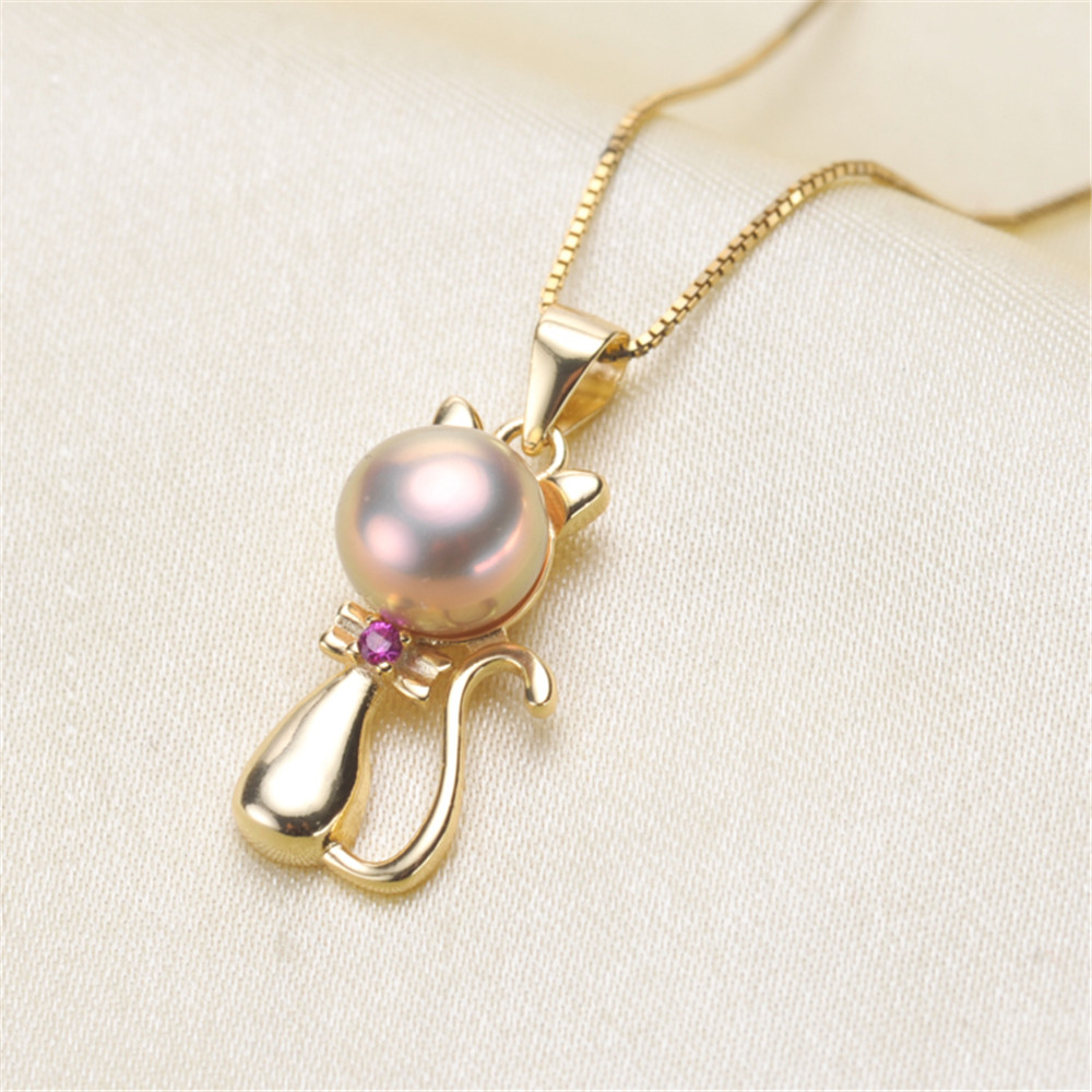 Pearl Pendant <font><b>Settings</b></font>, Fashionable <font><b>Bases</b></font> <font><b>Setting</b></font> Pendant Mountings 925 Silver Pendant <font><b>Jewelry</b></font> DIY making No Pearl No Chain image