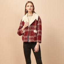 Куртка оверсайз женская 2020 зимняя одежда с лацканами подкладка