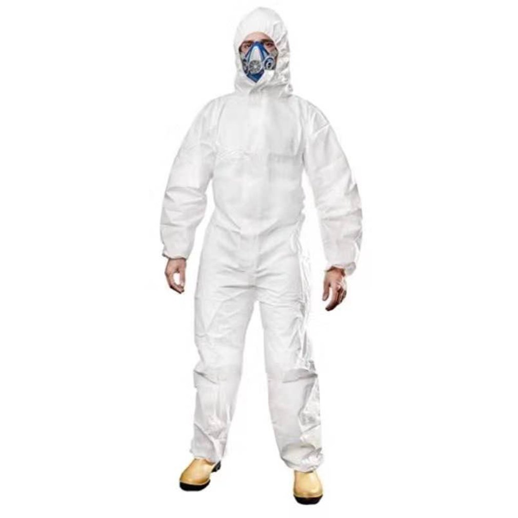 Protective Clothing Women Men Overalls Isolation Suit Set Disposable Antistatic Workwear Dust Anti-  Protection