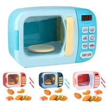Microwave Oven Simulation Model Toy Timing Playing Dollhouse Interactive Doll