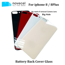 Novecel Back Cover Case For iphone 8 8P Housing Rear Battery Door With Big / Normal Hole or Camera Lens Frame