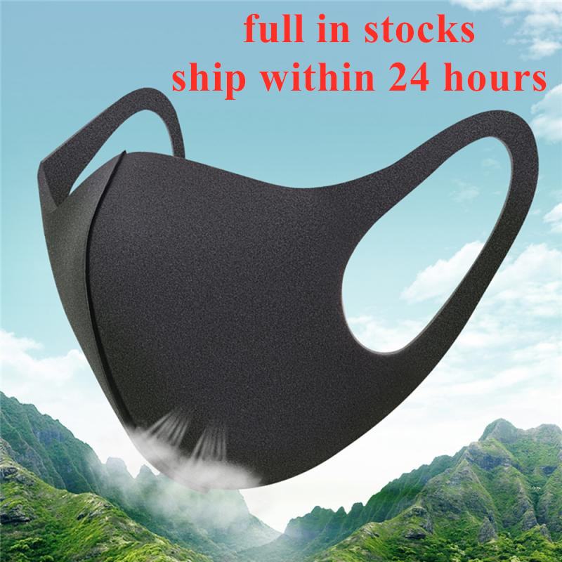 1/5/10PCS Protective Breathable Mask Dustproof Reusable Mouth Bicycle Black Mask Washable Men And Women Face Mouth Masks