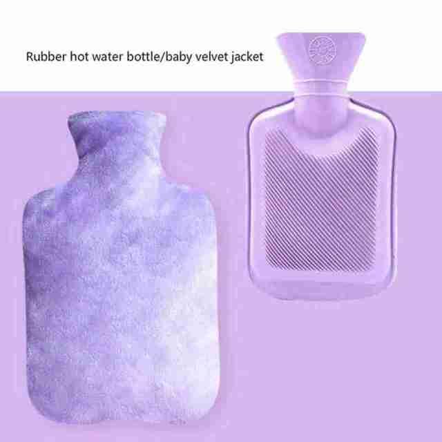 500 мл симпатичная мультяшная сумка для бутылки с горячей водой фотография