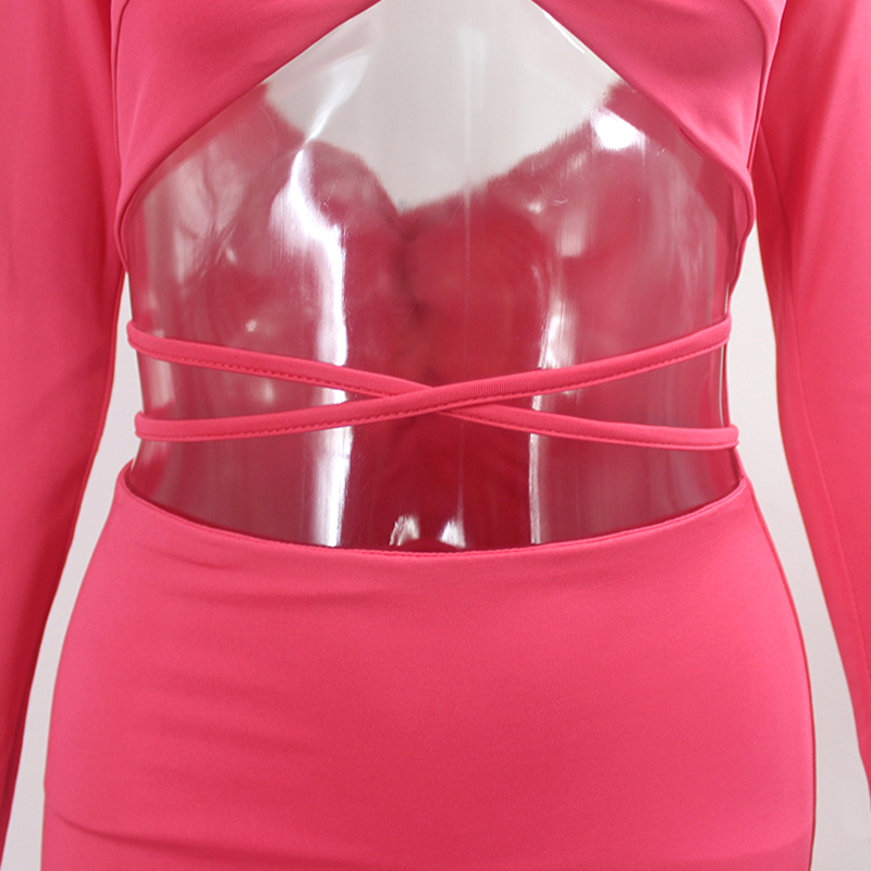 Cutout Bodycon Bandage Dress