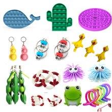 Jouets anti-Stress sensoriel, Lot de 25 pièces, anti-Stress, autisme, soulagement de l'anxiété, Pop bubble Fidget