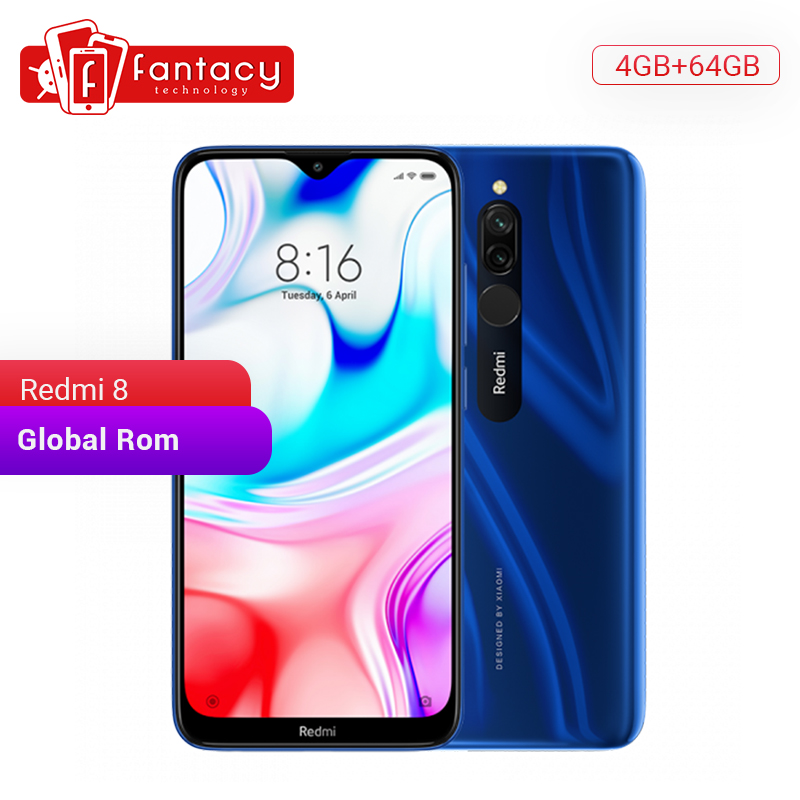 In Stock Global Rom Xiaomi Redmi 8 4GB 64GB Snapdragon 439 Octa Core 12MP Dual Camera Mobile Phone 5000mAh Large Battery OTA