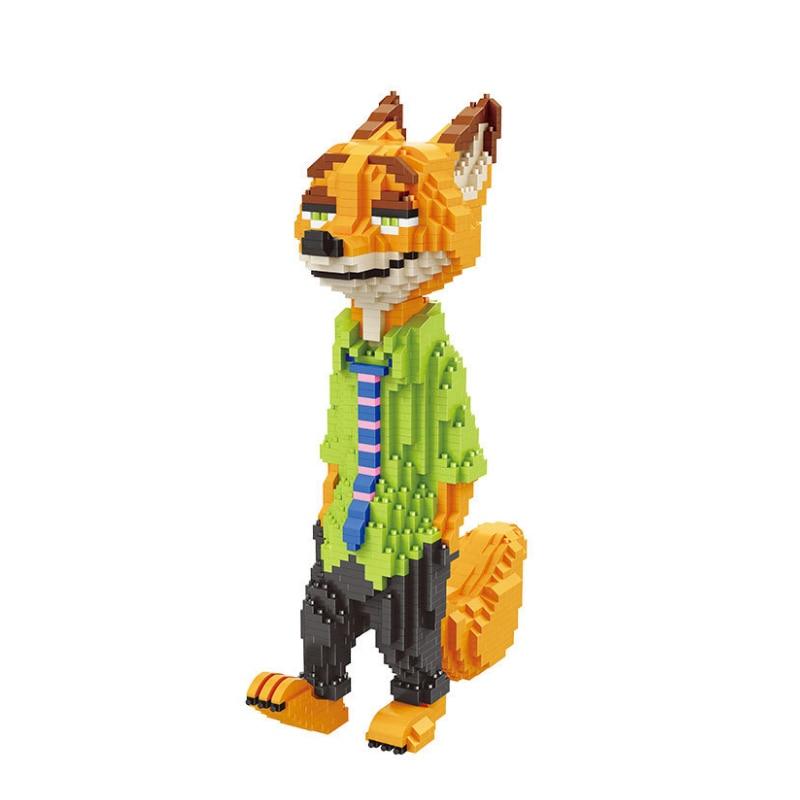 Balody Animal Building Blocks Fox Nick Rabbit Judy Model Brick Assembling Cartoon DIY Kits Toys for Children Gifts