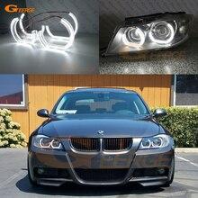 עבור BMW E90 E91 סלון סיור מראש LCI 2005 2006 2007 2008 מצוין קריסטל DTM M4 סגנון Ultra בהיר led מלאך עיני halo טבעות