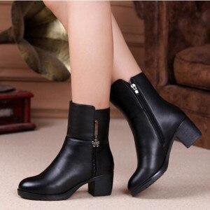 Image 5 - ZXRYXGS bottes de marque pour femme, chaussures dhiver en cuir véritable, tendance, en laine chaude, hiver, 2020