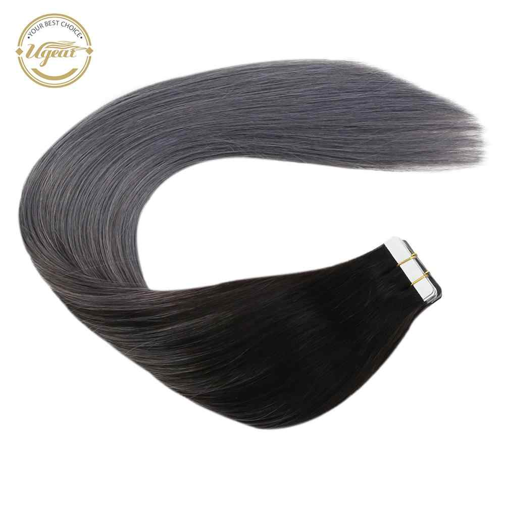 "[Extra 5% Off] Ugeat Tape In Human Hair Extensions 14-24 ""Lijm In Haar 100G/40 Pcs Machine Remy Haar Balayage Kleur Haar"