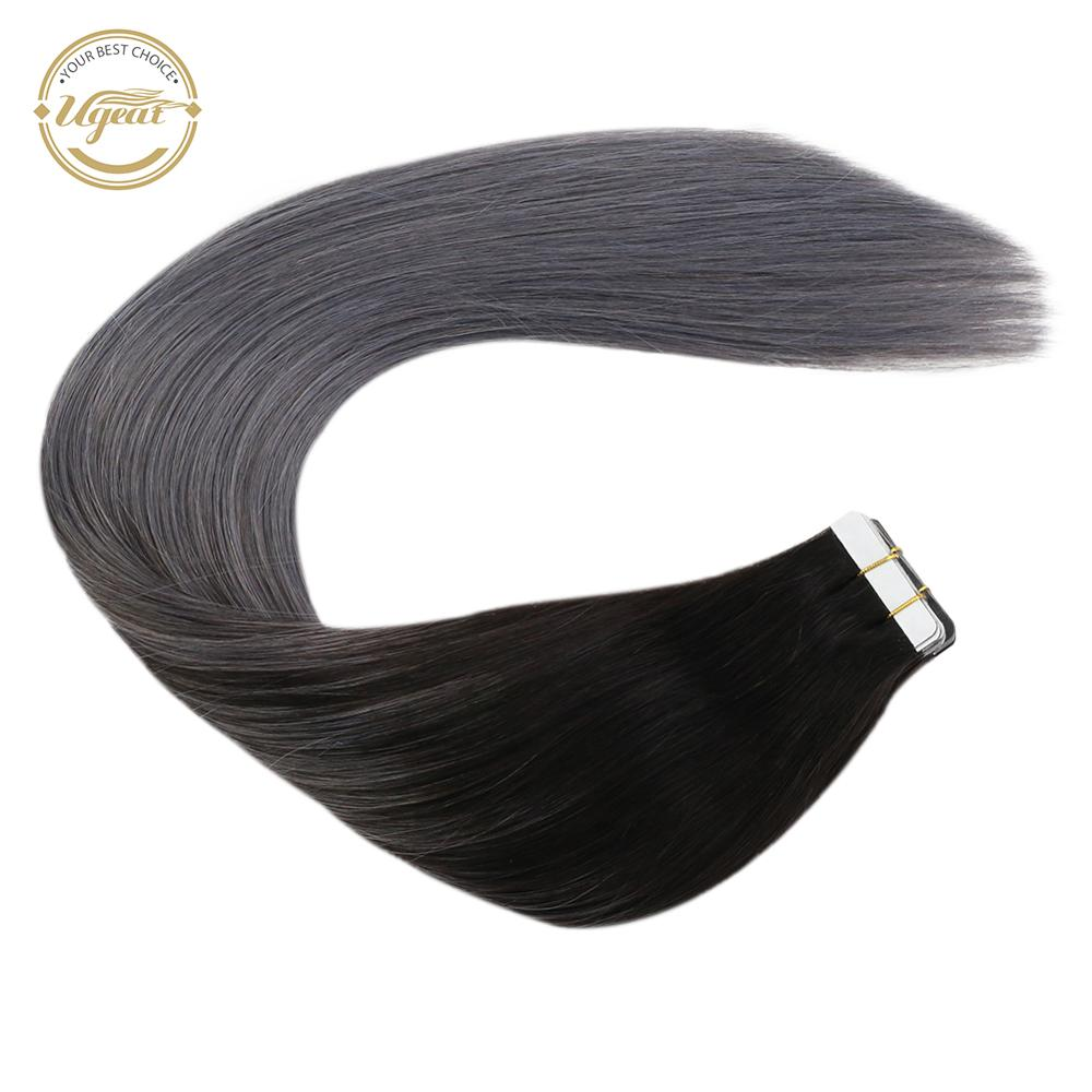 [21 Colors] Ugeat Tape In Human Hair Extensions 14-24