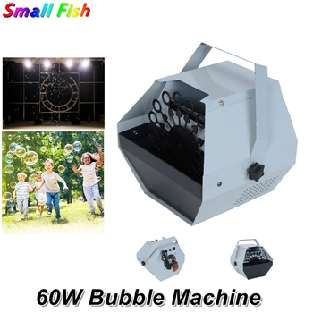 цена на 60W Mini Bubble Machine Remote Control Stage Effect Dj Equipments For Wedding Christmas Entertainment Stage Light Projector