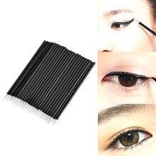 100pcs Disposable Eyeliner Brushes Individual Applicator Superfine Fibre Swab Eye Liner Liquid Wand Professional Brush