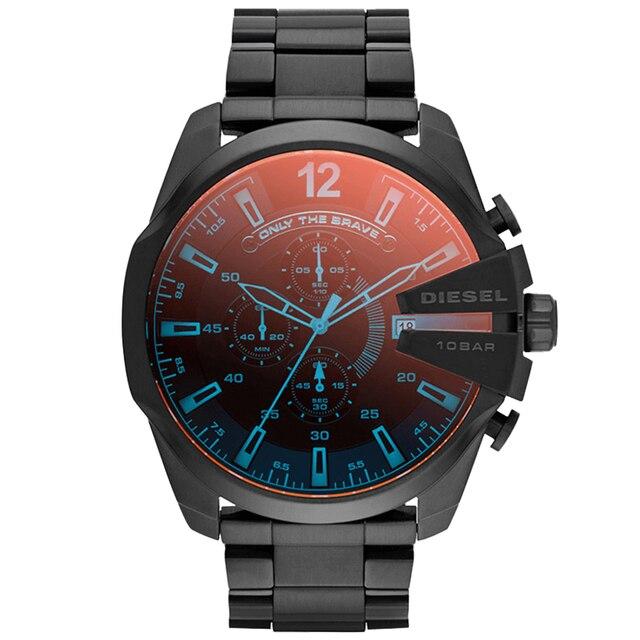 Relógio cronógrafo masculino dz4318, relógio oficial principal série três olhos