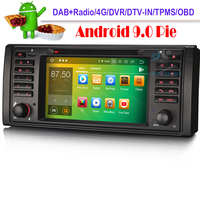 Android 9.0 Car DVD Sat Nav DAB+ TPMS 4G BT Car GPS Navigation player for BMW 5 Series E39 E53 X5 M5