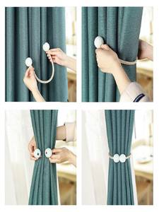 Curtain-Clip Buckle Strap Pearl-Tie-Rope Hanging-Ball Magnetic New 1x