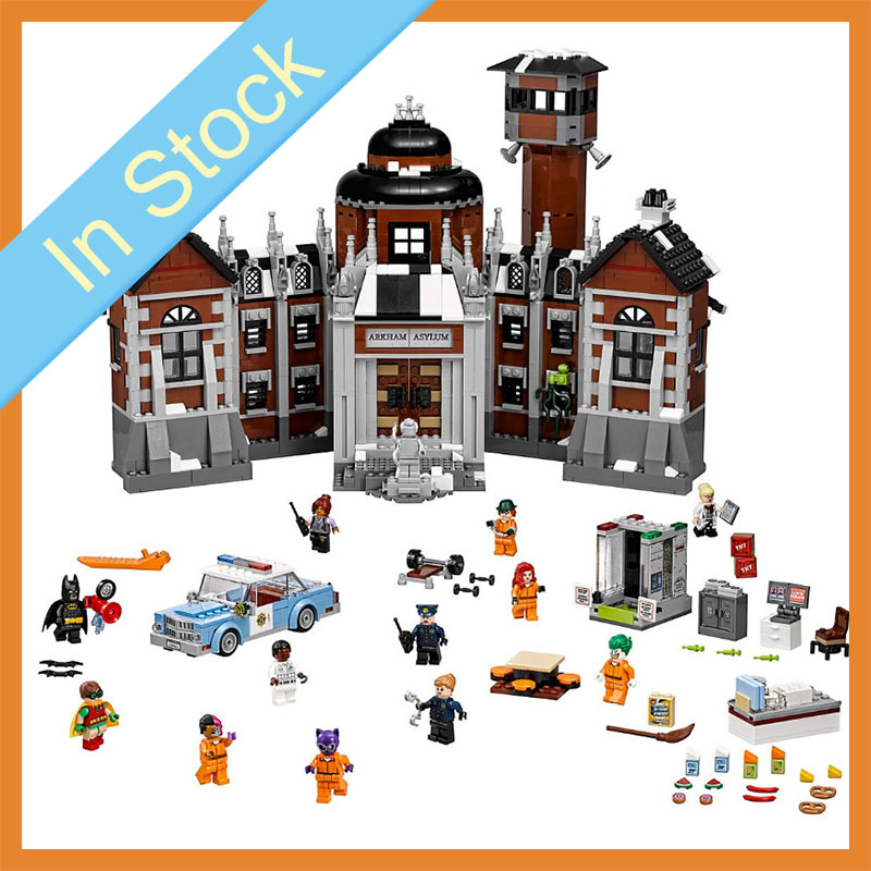 In stock 07055 1743Pcs Super Hero Batman DC Comics Arkham Asylum Building Blocks Bricks child Toys Christmas gifts <font><b>70912</b></font> image