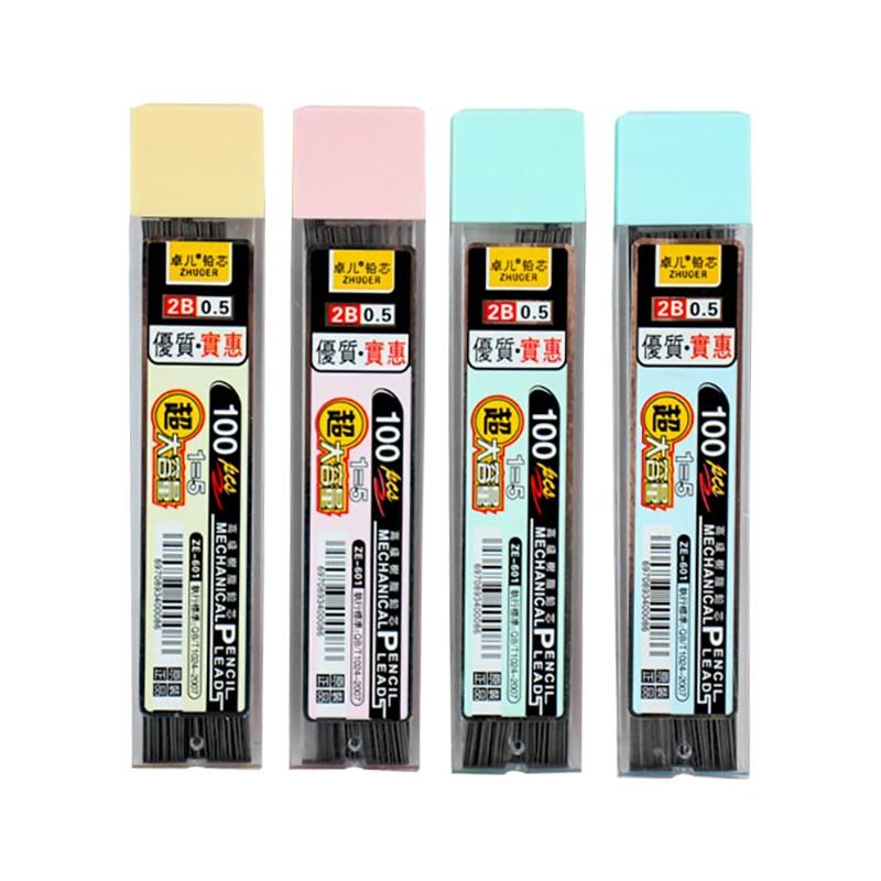 4 коробки 0,5/0,7 мм механический карандаш, сменный свинцовый карандаш, сменный карандаш, стираемый Гладкий Карандаш для рисования, канцелярск...