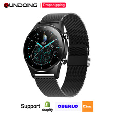 2020 Newest Fitness Smart Watch Men Sports SmartWatch Pedometer Round Touch Screen Bluetooth Wristwatch for IOS And Android cheap rundoing CN(Origin) None On Wrist All Compatible 128MB Passometer Sleep Tracker Message Reminder Call Reminder Push Message