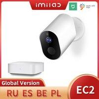 Mihome-cámara IP EC2 inalámbrica Wifi 1080P HD, cámara de seguridad exterior IP66, cámara de vigilancia con visión nocturna infrarroja