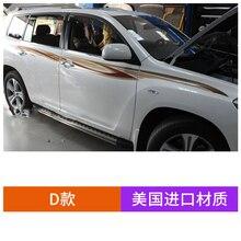 цена на Car Sticker For Toyota Highlander 2009-2014 Body Exterior Decoration Highlander Modified Sports Sticker Film