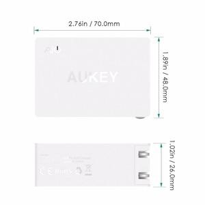Image 4 - Prise ue originale Aukey Charge rapide PA Y2 ampères type c avec Charge rapide 3.0 double Charge USB Fsat