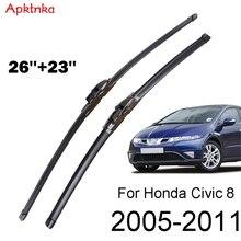 Apktnka שמשות שמשה קדמית מגב להבים מול חלון להונדה סיוויק 8 MK 8 אירופאי 2011 2010 2009 2008 2007 2006 2005
