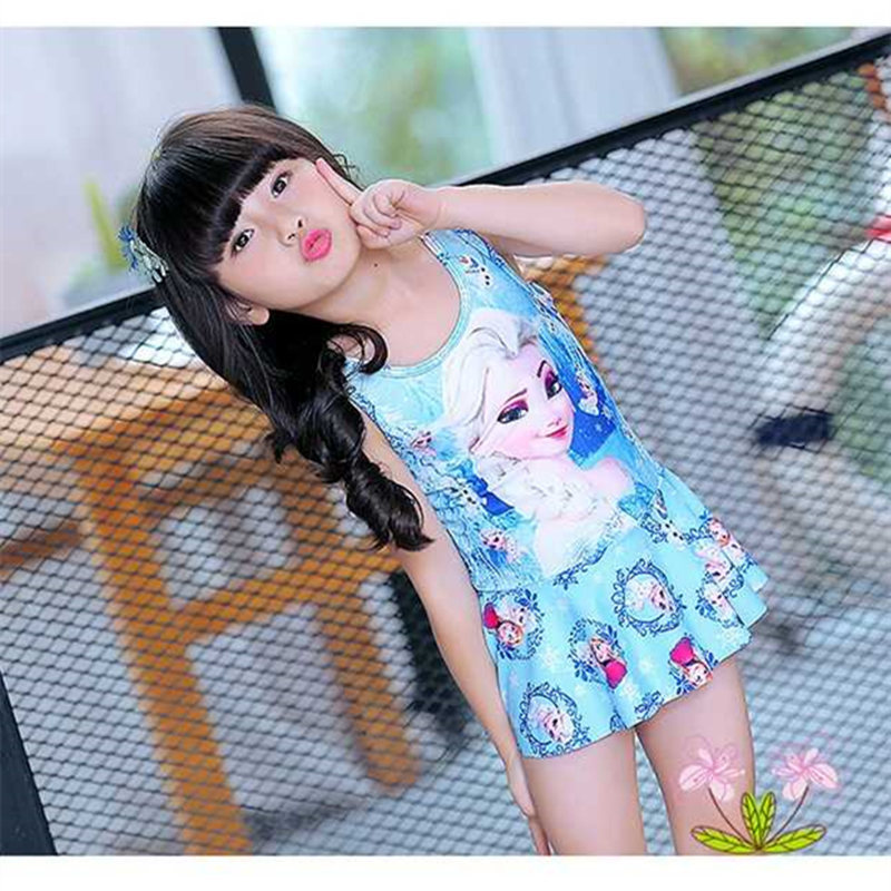 KID'S Swimwear Girls Boxer Siamese Swimsuit Medium And Small Children Shirt-Swimwear Baby Sun Protection Clothing