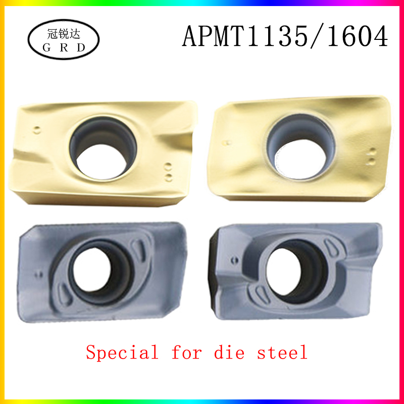 High Quality And Hardness APMT1135 APMT1604 Inserts Die Steel Special APMT1135PDER APMT1604PDER Is Suitable For Steel Up To 50°