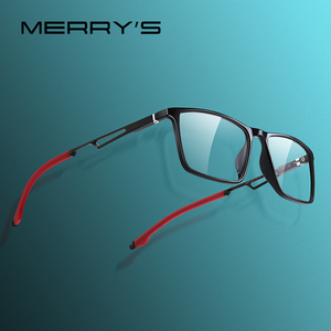 Image 1 - MERRYS DESIGN Men Sport Glasses Frame Myopia Prescription Eyeglasses Acetate Frame Aluminum Temple With Silicone Legs S2270