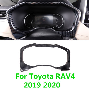 For Toyota RAV4 RAV 4 XA50 2019 2020 Peach Wood Car Dashboard Screen Frame Carbon Fiber Dashboard Decoration Chrome Trims image