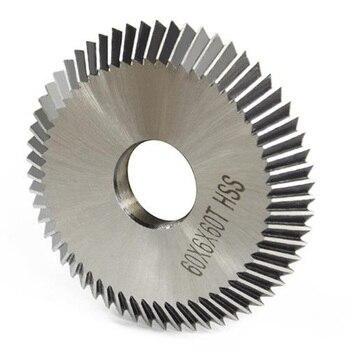 60mm OD 16mm hoja de sierra disco de corte placa para la máquina de llaves horizontal cerrajero