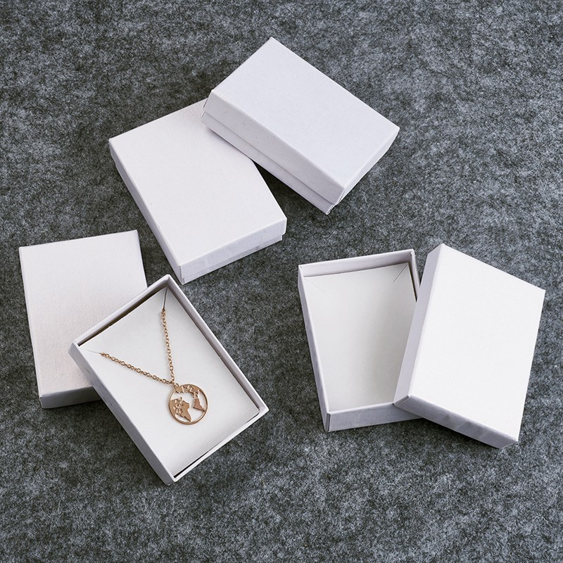 60pcs Rectangle <font><b>Cardboard</b></font> Jewelry Set Boxes For Necklace Earring <font><b>Ring</b></font> <font><b>Box</b></font> Jewelry Packaging Gift <font><b>Box</b></font> 9x6.5x2.8cm image