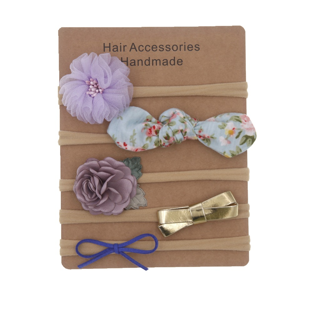 Baby Girl Soft Headbands 4pcs Infant Toddler Hair Bands-Newborn Headbands and Bows Child Hair Accessories