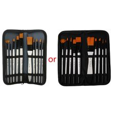 цена на 10Pcs/set Nylon Hair Art Painting Brushes Acrylic Oil Watercolor Artists Paint Brush Set Painting Drawing Supplies with Bag