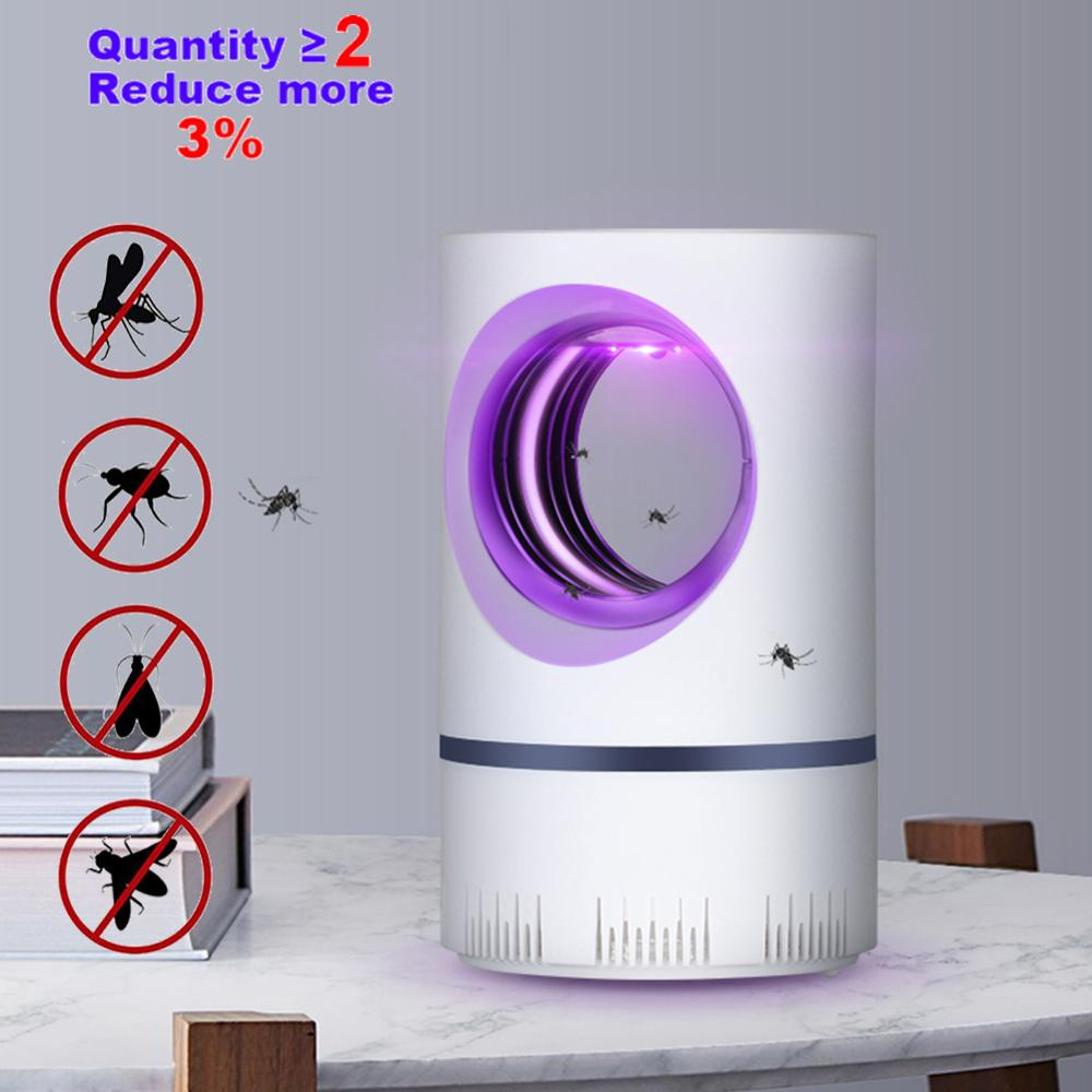5W USB Anti Mosquito Killer Lamp Powered Electric Photocatalytic UV Photocatalys Bug Insect Trap Light Pest Control Repellent