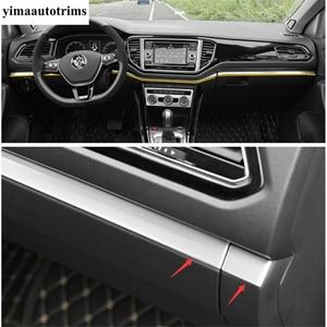 Image 3 - Für Volkswagen T Roc T Roc 2018   2021 Zentrale Steuerung Dekorative Abdeckung Streifen Trim Silber Farbe Edelstahl refit Innen