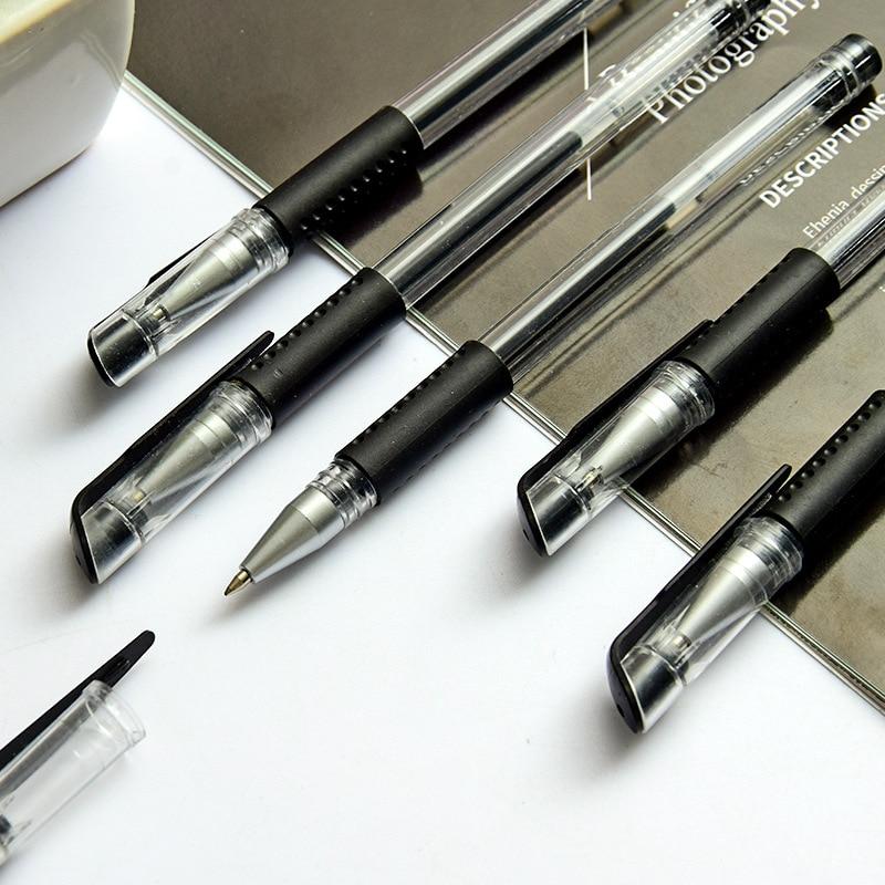 0.5mm European Standard Black Ink Gel Pen Bullet Needle Tube Carbon Office School Signature Gel Pen Pen for Student Examination 3