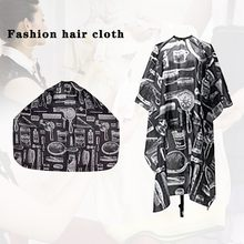 Pattern Cut Hair Tarpaulin Salon Barber Dress Robe Shawl Hairdressing Shawl easy to fold and store for hair cutting, perming(China)
