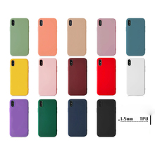 Silicone Soft TPU Phone Case matte For iPh 7 8 plus Back Cover for iph X XR XS Color protection shell Shockproof