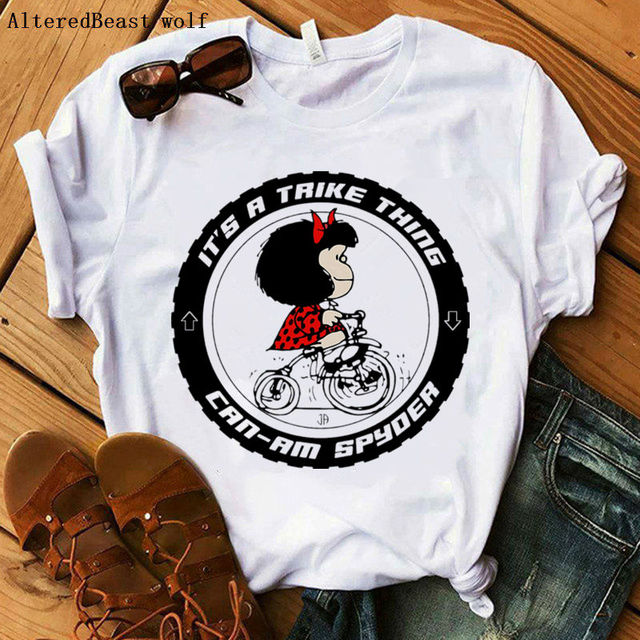 Summer casual harajuku women t shirt Now What? Mafalda print women t shirt funny short sleeve o neck tops lovely vogue clothes