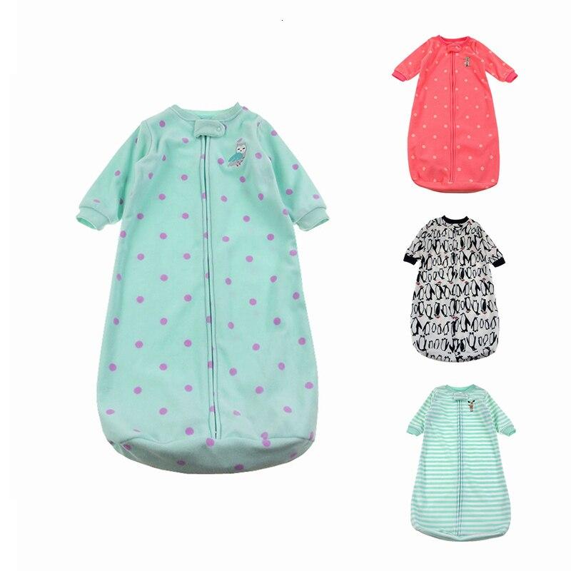 Cute Sleep Sack Baby Sleeping Bag For Newborn Polar Fleece Infant Clothes Style Sleeping Bags Sleeve Romper