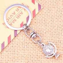 New Fashion Keychain 21x15mm earth globe planet Pendants DIY Men Jewelry Car Key Chain Ring Holder Souvenir For Gift(China)