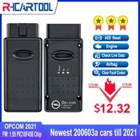 OPCOM-escáner de diagnóstico de coche, dispositivo V1.99 V.70 con Chip pic18F458 FTDI FT232RQ para Opel, compatible con coches 2021 opcom profession 170823c