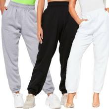 Mulheres de grandes dimensões corredores moda 2020 solto casual senhoras bottoms chic jogging gym baggy calças lounge wear moletom feminino