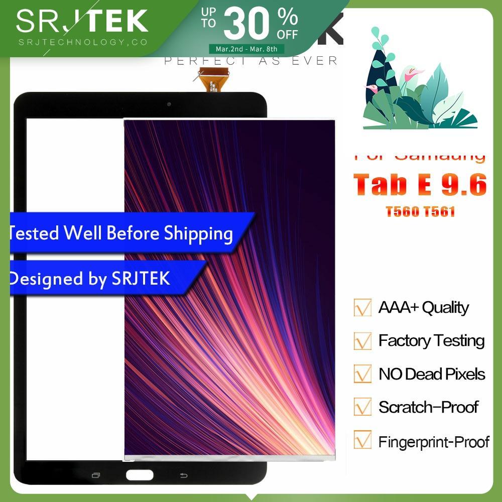 Srjtek T560 Panel dotykowy LCD do Samsung Galaxy Tab E SM-T560 T560 T561 wyświetlacz LCD z panelem dotykowym Digitizer zgromadzenie