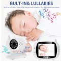 3 5-дюймовый видео беспроводной радионяня VOX камеры безопасности няня ИК ночного видения голосовой вызов Babyphone с мониторингом температуры