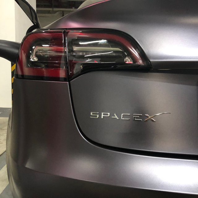 3D ABS Trunk Sticker Letter Emblem Styling for Tesla Logo ModelS ModelX Model 3 Roadster SpaceX Badge Auto Accessories 6