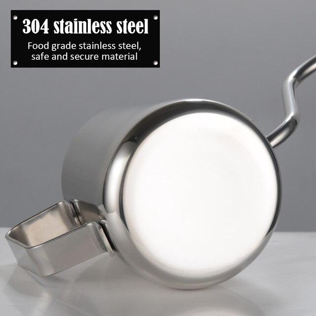 Théière lave-main à la maison | Théière en acier inoxydable, bouilloire à Long bec, filtre à goutte en téflon de 250ml/350ml