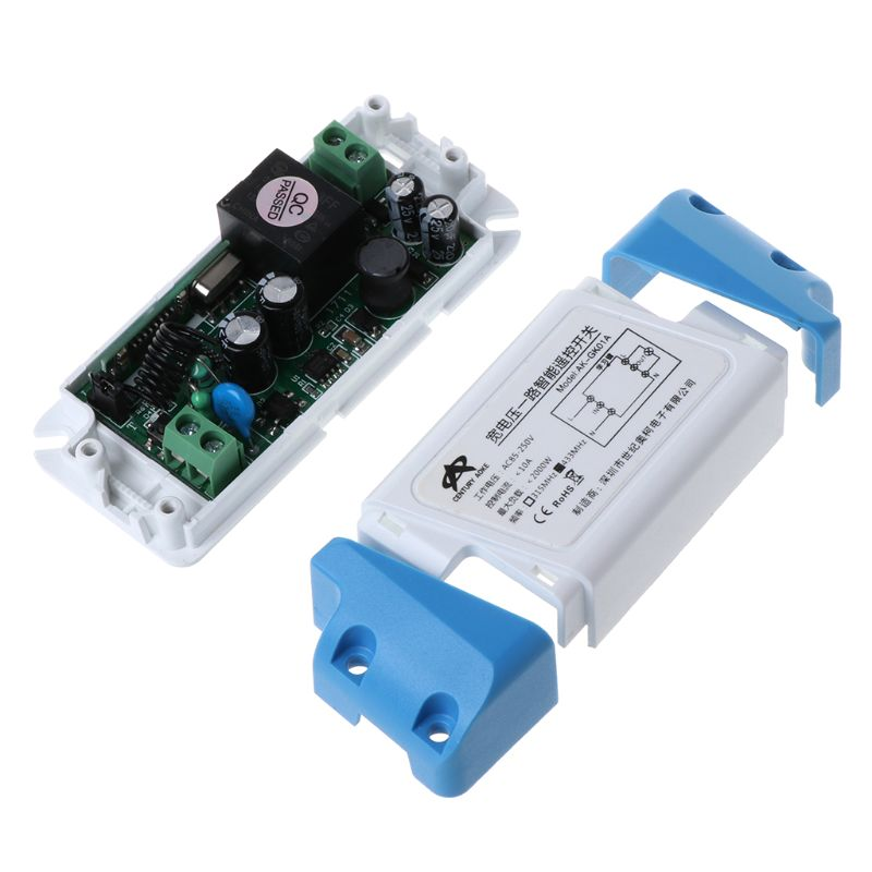 1Set AC85 250V LED Light Lamp Switch Relay Output Waterproof Wireless RF Radio Receiver Module Case with 1CH Remote Control in Remote Controls from Consumer Electronics